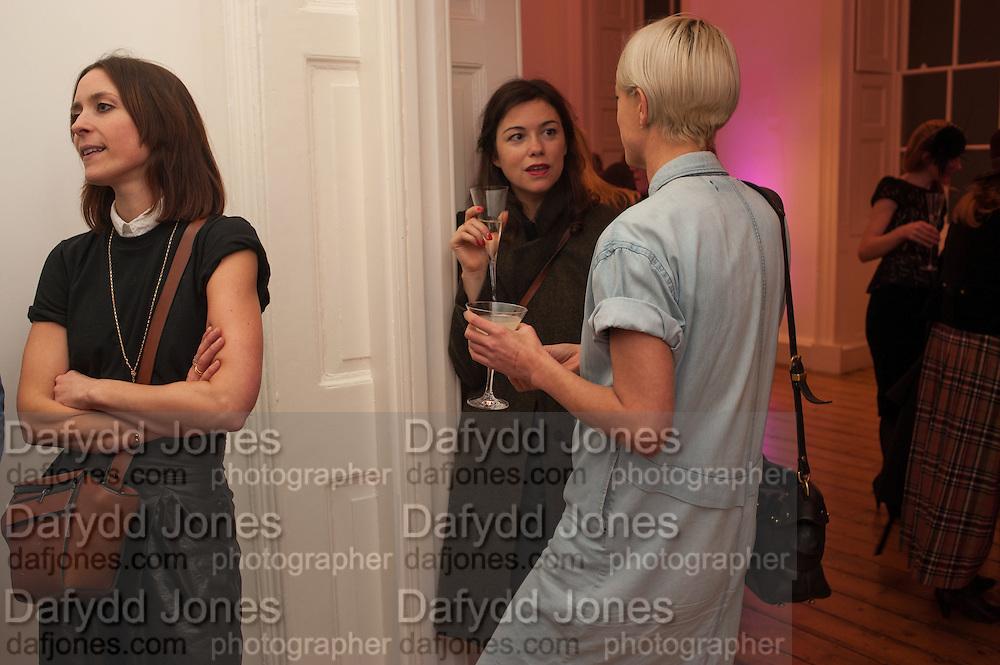 LULU ROPER-CALDBECK; RHONDA DRAKEFORD; KATIE DAILEY, Isabella Blow: Fashion Galore! private view, Somerset House. London. 19 November 2013