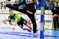 18.03.2018, BSFZ Suedstadt, Maria Enzersdorf, AUT, HLA, SG INSIGNIS Handball WESTWIEN vs HC FIVERS WAT Margareten, Bonus-Runde, 6. Runde, im Bild Sebastian Frimmel (SG INSIGNIS Handball WESTWIEN) // during Handball League Austria, Bonus-Runde, 6 th round match between SG INSIGNIS Handball WESTWIEN and HC FIVERS WAT Margareten at the BSFZ Suedstadt, Maria Enzersdorf, Austria on 2018/03/18, EXPA Pictures © 2018, PhotoCredit: EXPA/ Sebastian Pucher