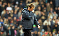 Photo: Alan Crowhurst.<br />Fulham v West Ham United. The Barclays Premiership. 23/12/2006. Wesh Ham coach Alan Curbishley leaves the field at the end of the match.