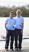 Caversham. Berkshire. UK<br /> GBR LW2X, left Charlotte TAYLOR and Kat COPELAND.<br /> 2016 GBRowing European Team Announcement,  <br /> <br /> Wednesday  06/04/2016 <br /> <br /> [Mandatory Credit; Peter SPURRIER/Intersport-images]