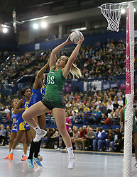 Celtic Dragons's Chelsea Lewis in action during the Vitality Netball Superleague Super Ten match held at Arena Birmingham