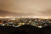 Tehran seen from Bam-e-Tehran (the roof of Tehran). Tehran is the largest city in the Middle East and the most populated city in south-west Asia with a population of 7.5 million (approximately 15 million in Greater Tehran). Tehran, Iran, 2008