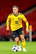 Eden Hazard (#10) of Belgium on the bell during the International Friendly match between Scotland and Belgium at Hampden Park, Glasgow, United Kingdom on 7 September 2018.