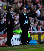 Photo: Jed Wee/Sportsbeat Images.<br /> Middlesbrough v West Bromwich Albion. The FA Cup. 17/02/2007.<br /> <br /> West Brom manager Tony Mowbray (R) with Middlesbrough manager Gareth Southgate.