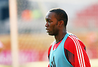 Photo: Chris Ratcliffe.<br />Trinidad & Tobago training session. FIFA World Cup 2006. 14/06/2006.<br />Dwight Yorke in training.