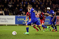 AFC Wimbledon midfielder Dean Parrett (18) penalty 3-0 during the EFL Sky Bet League 1 match between AFC Wimbledon and Rochdale at the Cherry Red Records Stadium, Kingston, England on 28 March 2017. Photo by Matthew Redman.