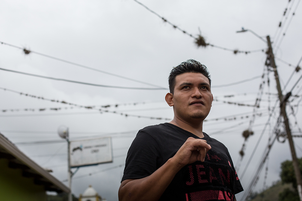 César Abraham Méndez Calix, 31, Jutiquiles<br /> <br /> We've seen people leaving Syria, going through France, thousands of them. We never thought we'd see thousands of people leaving Honduras at the same time. But, if you all go together, you don't pay smugglers, and it's safer.<br /> <br /> I lived in a really dangerous neighbourhood. Really dangerous. Lots of my friends were killed.<br /> <br /> The first three times I got up to Laredo.<br /> Then I went on the train, on top of the train, up to Mexicali.<br /> All in all, I went six times, I was deported five times.<br /> <br /> The last time, the people I was with got impatient, they tried to get across, they were deported. I got homesick, I decided to come back here, to eat beans.<br /> <br /> But, it's hard here, economically. <br /> <br /> I was lucky to survive it, I saw someone killed in front of me, I was with this guy from Choluteca, we were tired, it was six in the morning, we hadn't slept much, we were perched in between the train wagons, he slipped off and went straight under the wheels. God knows how many people have died on the journey, and plenty come back with limbs missing. Another time I saw someone reach out for a mango from an overhanging tree, the train will full, 60 people on each wagon, we were hungry, so he reached out, he slipped, he went between the wagons, landed on his teeth, he was dead straight away.<br /> <br /> One time I nearly died myself. I was travelling between Nayarit and Guadalajara. I was on the train and I touched a high-tension cable, it just brushed my face, burned me, two Mexicans stopped me from falling off, they grabbed my legs. I've never been closer to death. I have never got on a train again. <br /> <br /> Sometimes the Mexican throw stones at you while you're on the train. <br /> <br /> I have done training with the LWF, I am making a living painting, painting houses and businesses, and doing signwriting and tattoos.<br /> <br /> LWF's program for returned and depo