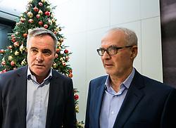 Tomaz Kavcic and Zdenko Verdenik during Traditional New Year party of of the Slovenian Football Association - NZS, on December 18, 2017 in Kongresni center, Brdo pri Kranju, Slovenia. Photo by Vid Ponikvar / Sportida