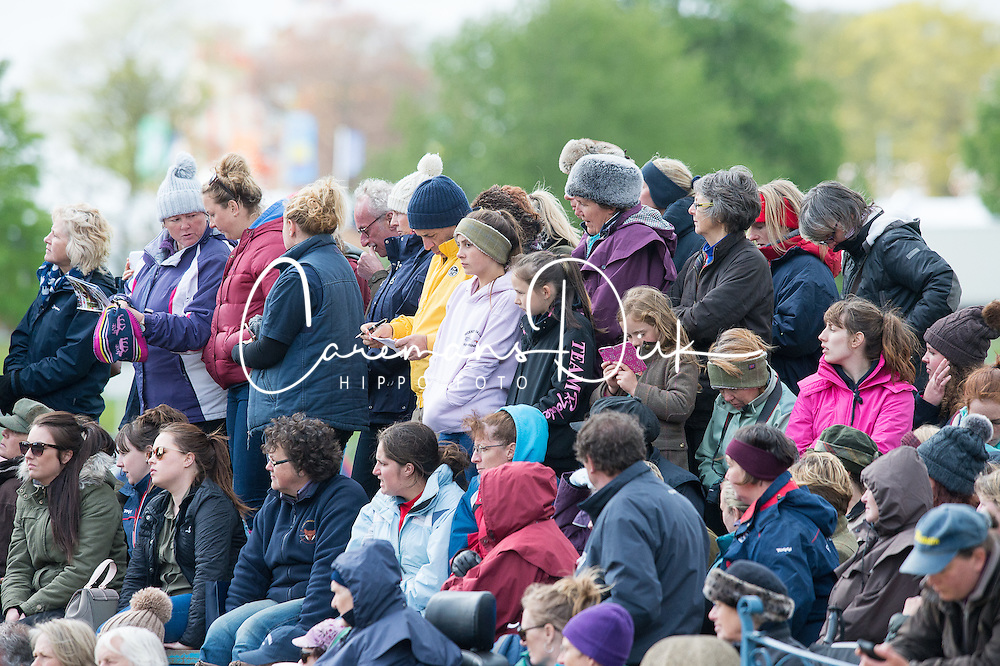 Crowds watch the First Horse Inspection<br /> First Horse Inspection - Mitsubishi Motors Badminton Horse Trials <br /> Badminton 2015