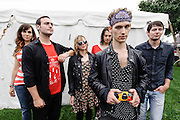 Portraits of the band The Demos backstage at Catalpa Music Festival on Randall's Island, NYC. July 28, 2012. Copyright © 2012 Matthew Eisman. All Rights Reserved.