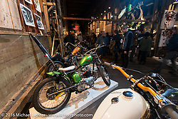 Kodiak Bill's 1956 Triumph T110 on Friday night at the One Show motorcycle show in Portland, OR. February 12, 2016. ©2016 Michael Lichter