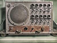 Intercom panel on a World War 2 U.S. battleship