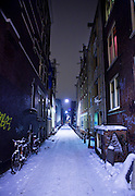 The All Seeing Eye of God. Amsterdam alleyway, with Graffiti