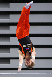 05-04-2015 SLO: World Challenge Cup Gymnastics, Ljubljana<br /> Epke Zonderland of Netherland in Horizontal Bar during Final of Artistic Gymnastics World Challenge Cup Ljubljana, on April 5, 2015 in Arena Stozice, Ljubljana, Slovenia.<br /> Photo by Morgan Kristan / RHF Agency
