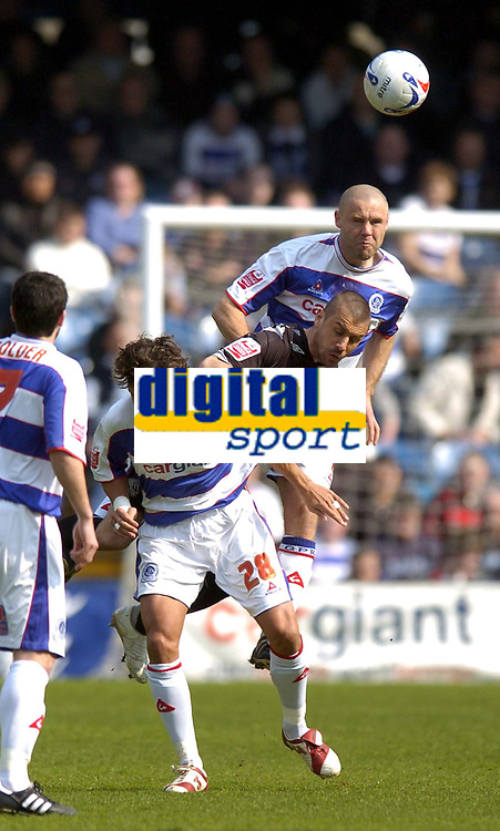 Photo: Olly Greenwood.<br />Queens Park Rangers v West Bromwich Albion. Coca Cola Championship. 31/03/2007. West Brom's Kevin Phillips and QPR's Danny Culip and Inigo Idiakez