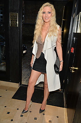 EMMA NOBLE arrives to celebrate her 43rd birthday at Toto's Restaurant, Walton Street, London on 26th June 2014.