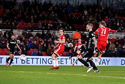 Patrick Bamford of Middlesbrough scores a goal to make it 1-0 - Mandatory by-line: Robbie Stephenson/JMP - 02/03/2018 - FOOTBALL - Riverside Stadium - Middlesbrough, England - Middlesbrough v Leeds United - Sky Bet Championship