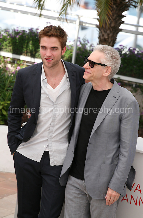 Actor Robert Pattinson and Director David Cronenberg Cosmopolis photocall at the 65th Cannes Film Festival France. Cosmopolis is directed by David Cronenberg and based on the book by writer Don Dellilo.  Friday 25th May 2012 in Cannes Film Festival, France.