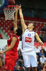 04.11.2015, Drazen Petrovic Basketball Center, Zagreb, CRO, FIBA Europa Cup, BC Cibona Zagreb vs PO Antwerp Giants, 2. Runde, im Bild Ante Toni Zizic. // during the 2nd round match of FIBA Europe Cup between BC Cibona Zagreb and PO Antwerp Giants at the Drazen Petrovic Basketball Center in Zagreb, Croatia on 2015/11/04. EXPA Pictures © 2015, PhotoCredit: EXPA/ Pixsell/ Jurica Galoic<br /> <br /> *****ATTENTION - for AUT, SLO, SUI, SWE, ITA, FRA only*****