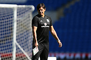 Chris Coleman, the Wales manager looks on during the Wales football team training at the Cardiff city Stadium in Cardiff , South Wales on Friday 1st September 2017.  the team are preparing for their FIFA World Cup qualifier home to Austria tomorrow.  pic by Andrew Orchard, Andrew Orchard sports photography