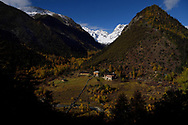 Park ranger station in the Baima Snow Mountain Nature reserve, Yunnan, China