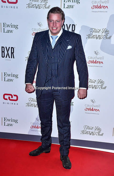 Thomas Skinner arrive at Float Like A Butterfly Ball for Caudwell Children Charity at Grosvenor House Hotel on 16 November 2019, London, UK.