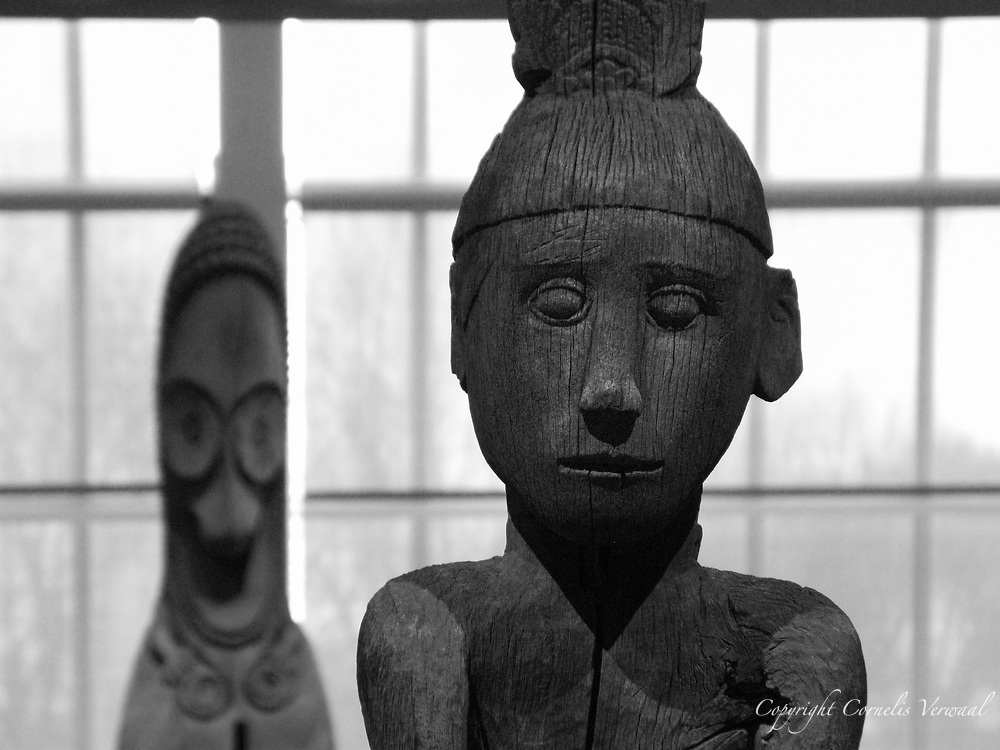 Figure (Hampatong) Ngadju or Ot Danum people, Borneo, Indonesia & Finial from a Slit Gong (Atingting Kon), Ambrym Island, Vanatu.