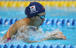 JAKARTA, Aug. 24, 2018  Kim Seoyeong of South Korea competes during women's 200m individual medley final of swimming at the 18th Asian Games in Jakarta, Indonesia, Aug. 24, 2018. Kim won the gold medal. (Credit Image: © Fei Maohua/Xinhua via ZUMA Wire)