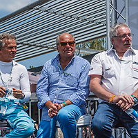 (L-R) Jan Lammers, Klaus Ludwig, Juergen Barth on 06/07/2018 at the 24H of Le Mans, 2018