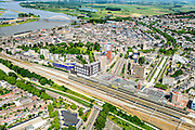 Nederland, Gelderland, Nijmegen, 09-06-2016; binnenstad Nijmegen, met NS-station, Stationsplein, Spoorstraat en Van Schaeck Mathonsingel.<br /> <br /> Town of Nijmegen, inner city.<br /> luchtfoto (toeslag op standard tarieven);<br /> aerial photo (additional fee required);<br /> copyright foto/photo Siebe Swart