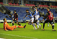 Football - 2020 / 2021 Sky Bet Championship - Reading v AFC Bournemouth - Madjeski Stadium<br /> <br /> Laurent of Reading scores goal no 1 past goalkeeper, Begovic <br /> <br /> COLORSPORT/ANDREW COWIE