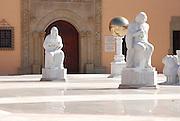 Israel, Caesarea, Ralli Museum of modern art, statue in the court yard January 2007