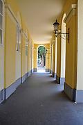 Eastern Europe, Hungary, Szeged, Dom Square, corridor