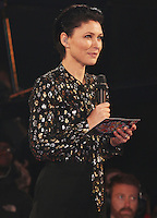 Emma Willis hosts as Stacy Francis becomes the sixth housemate to be evicted from the Celebrity Big Brother House, Elstree Studios, Hertfordshire UK, 24 January 2017, Photo by Brett D. Cove