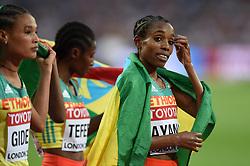 Almaz Ayana of Ethiopia looks on after her silver medal finish - Mandatory byline: Patrick Khachfe/JMP - 07966 386802 - 13/08/2017 - ATHLETICS - London Stadium - London, England - Women's 5000m Final - IAAF World Championships
