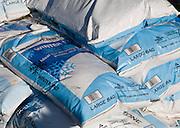 Large bags of winter salt