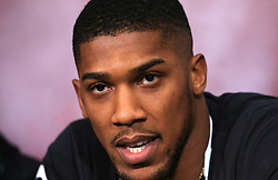 Anthony Joshua during a press conference at Sky Sports Studios, Isleworth.