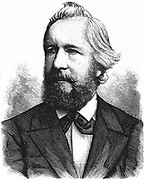 Ernst Haeckel (1834-1919) German zoologist and evolutionist. Recapitulation theory 'Ontology recapitulates phylogeny'. Wood engraving.