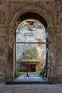 Terme del Corallo or Acque della salute. The fireplace seen from the ballroom