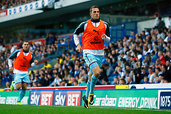 Burnley's Chris Wood warms up during the Carabao Cup, Second Round match at Ewood Park, Blackburn.
