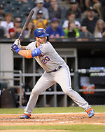 CHICAGO - JULY 31:  Pete Alonso #20 of the New York Mets bats against the Chicago White Sox on July 31, 2019 at Guaranteed Rate Field in Chicago, Illinois.  (Photo by Ron Vesely)  Subject:   Pete Alonso