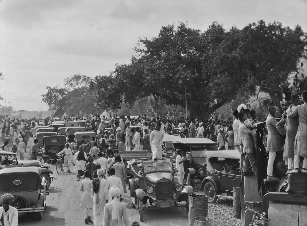 Crowd, Military Tournament, Hyderabad, India, 1929