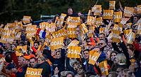 AMSTELVEEN - GOAL, klappers, klapper, Mink van der Weerden (Ned) scoort uit een strafcorner   tijdens  de tweede  Olympische kwalificatiewedstrijd hockey mannen ,  Nederland-Pakistan (6-1). Oranje plaatst zich voor de Olympische Spelen 2020.   COPYRIGHT KOEN SUYK