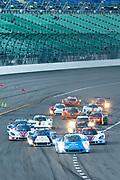 August 17, 2013: Grand Am Kansas. Start of the Grand Am Kansas race led by Scott Pruett, Memo Rojas, Chip Ganassi / Felix Sabates