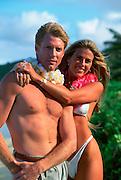 Couple on Beach, Hawaii<br />
