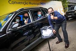 Em convenção realizada em formato drive-thru, o PSDB confirmou o lançamento do prefeito Nelson Marchezan como candidato à reeleição e Gustavo Jardim a vice, em Porto Alegre nesta terça-feira, 15 de Setembro de 2020FOTO: Jefferson Bernardes/ Agência Preview