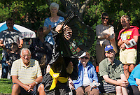 Wah Lum Kung Fu performers demonstrated Martial Arts in Rotary Park during Multi Cultural Festivities Saturday.  (Karen Bobotas/for the Laconia Daily Sun)
