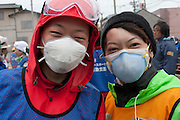 Portraits of a Peace boat volunteers after taking part in the clean-up operations in Ishinomaki, Miyagi Friday May 6th 2011. Around 350 volunteers took part in the relief effort over the Golden Week holiday, including 41 foreigners, clearing mud and removing debris from this coastal town which more almost levelled in the March 11th earthquake and tsunami.