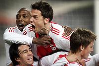 seizoen 2005 / 2006 , 22-02-2006 ajax - inter milaan champions leaque johnny heitinga markus rosenberg hatem trabelsi en mauro rosales