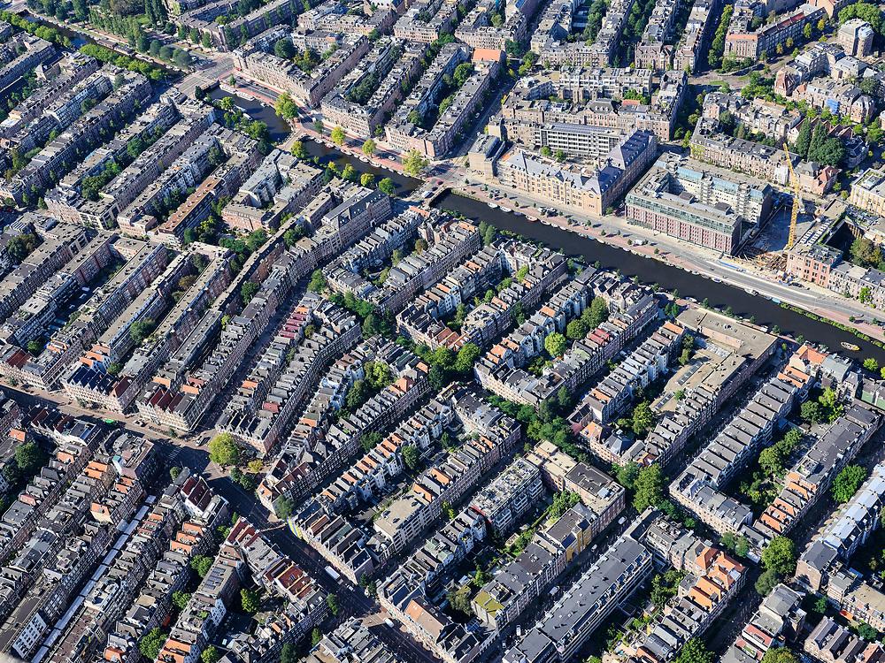 Nederland, Noord-Holland, Amsterdam, 02-09-2020; overzicht stadsdeelZuid, De Pijp- diagonaal Albert Cuypstraat, Ry=uysdaelkade. Overview of the Zuid district, De Pijp.<br /> luchtfoto (toeslag op standard tarieven);<br /> aerial photo (additional fee required);<br /> copyright foto/photo Siebe Swart
